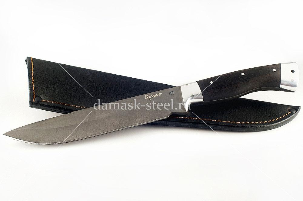 Нож Скорпион-25 сталь литой булат граб цельнометаллический