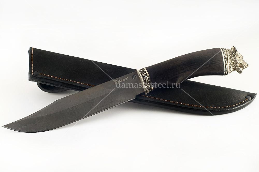 Нож Пират-4 сталь литой булат граб