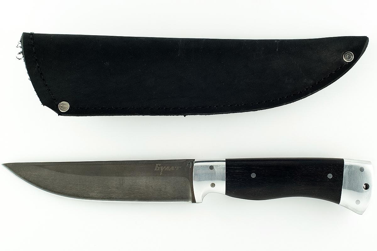 Нож Волк-14 сталь литой булат граб цельнометаллический
