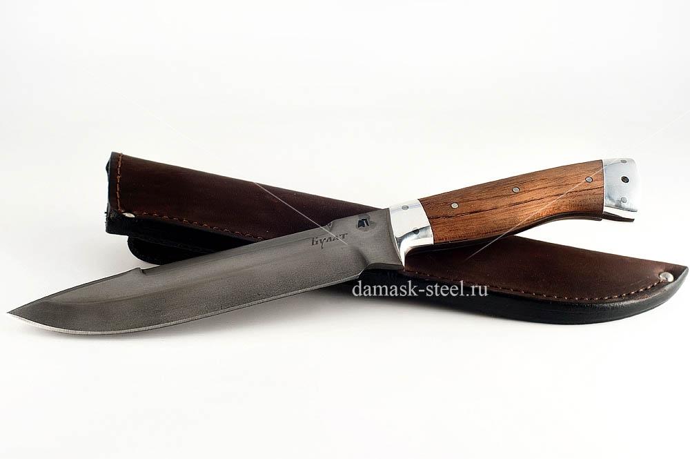 Нож Скорпион-28 сталь литой булат бубинга цельнометаллический (взрезка)