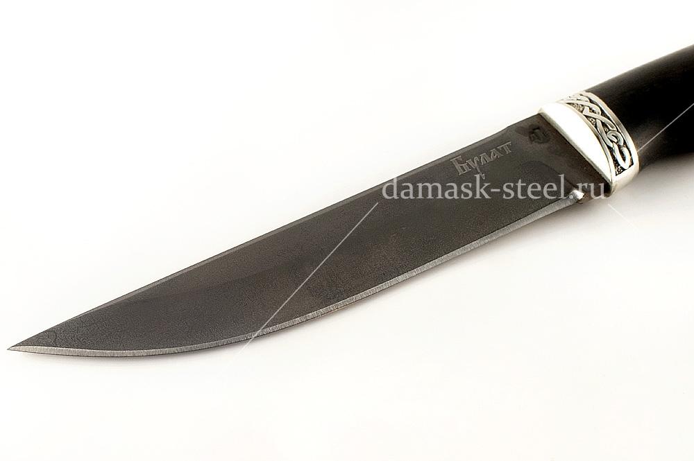Нож Волк-15 сталь литой булат граб