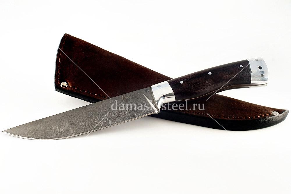Нож Волк-16 сталь литой булат граб цельнометаллический