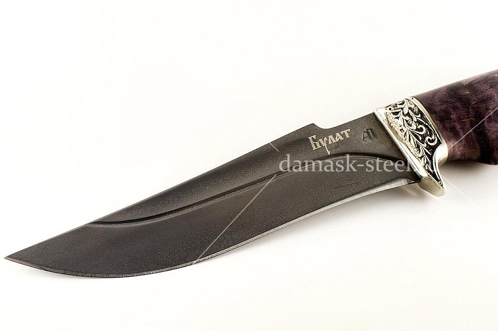 Нож Шершень-1 сталь литой булат карельская берёза