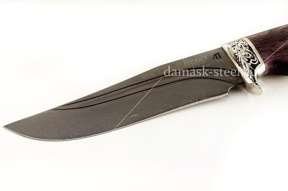 Нож Егерь-14 сталь литой булат карельская берёза