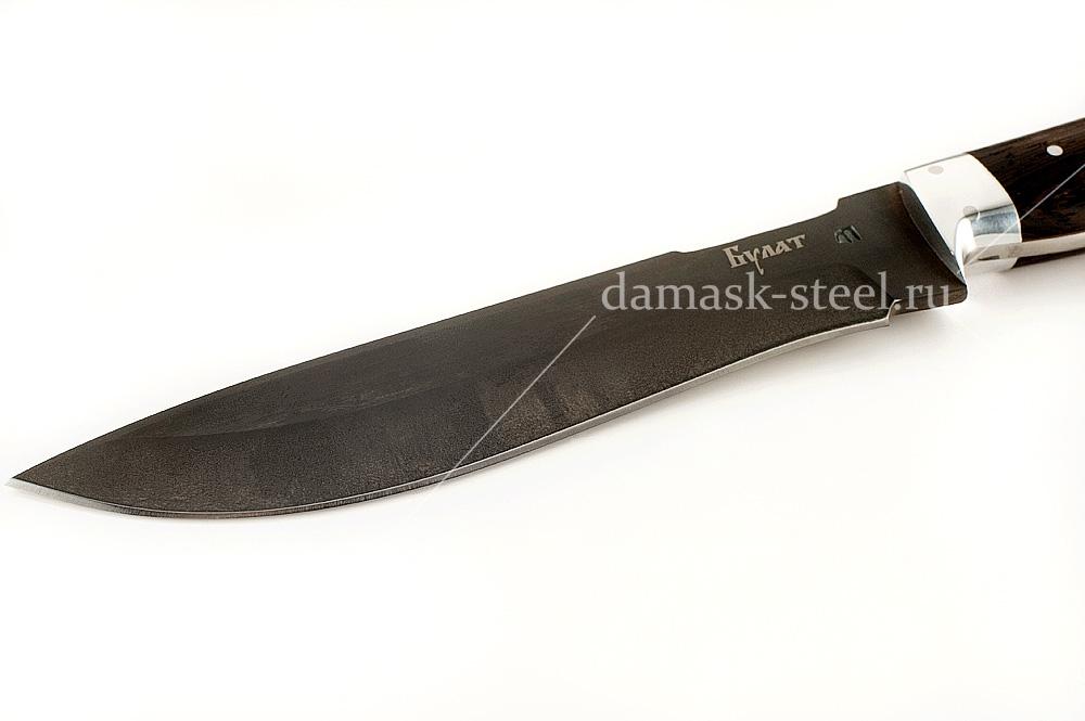 Нож Бизон-22 сталь литой булат венге цельнометаллический