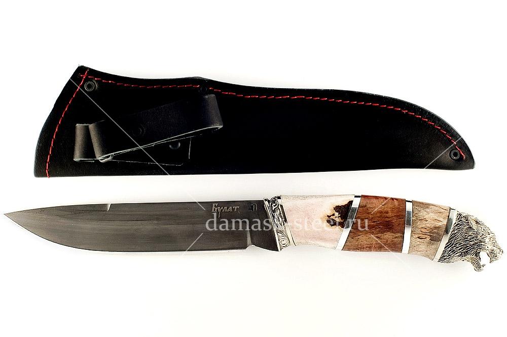 Нож Скорпион сталь литой булат наборная рукоять