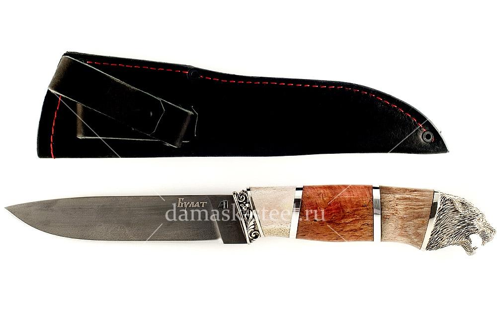 Нож Варан сталь литой булат наборная рукоять