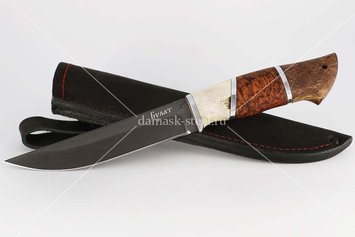 Нож Волк-1 сталь литой булат наборная рукоять