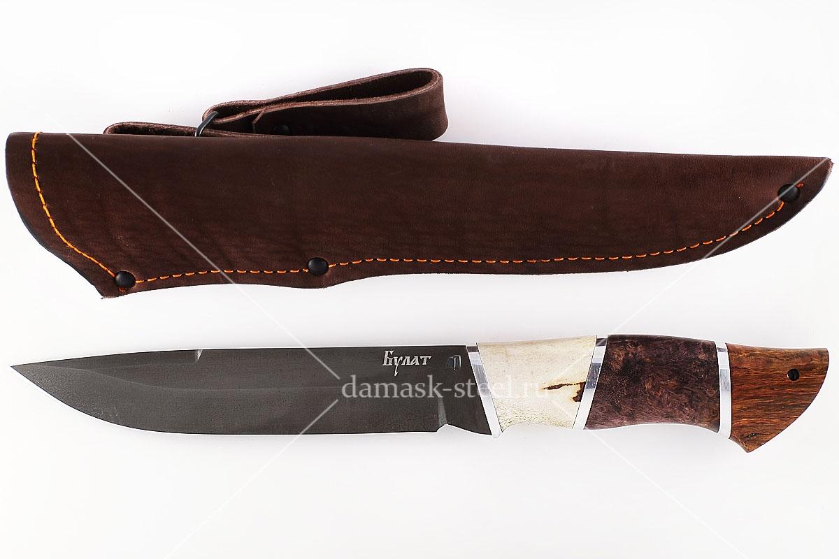 Нож Скорпион-30 сталь литой булат наборная рукоять