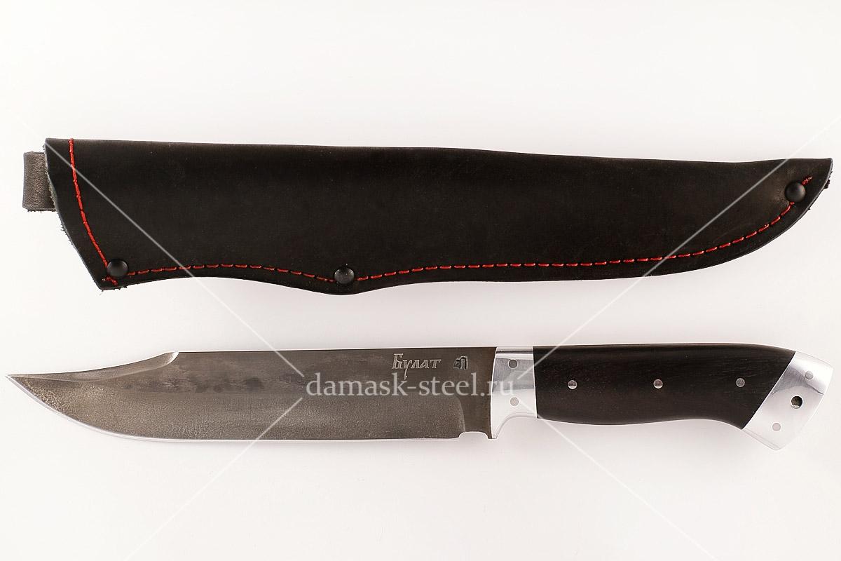 Нож Пират-5 сталь литой булат граб цельнометаллический