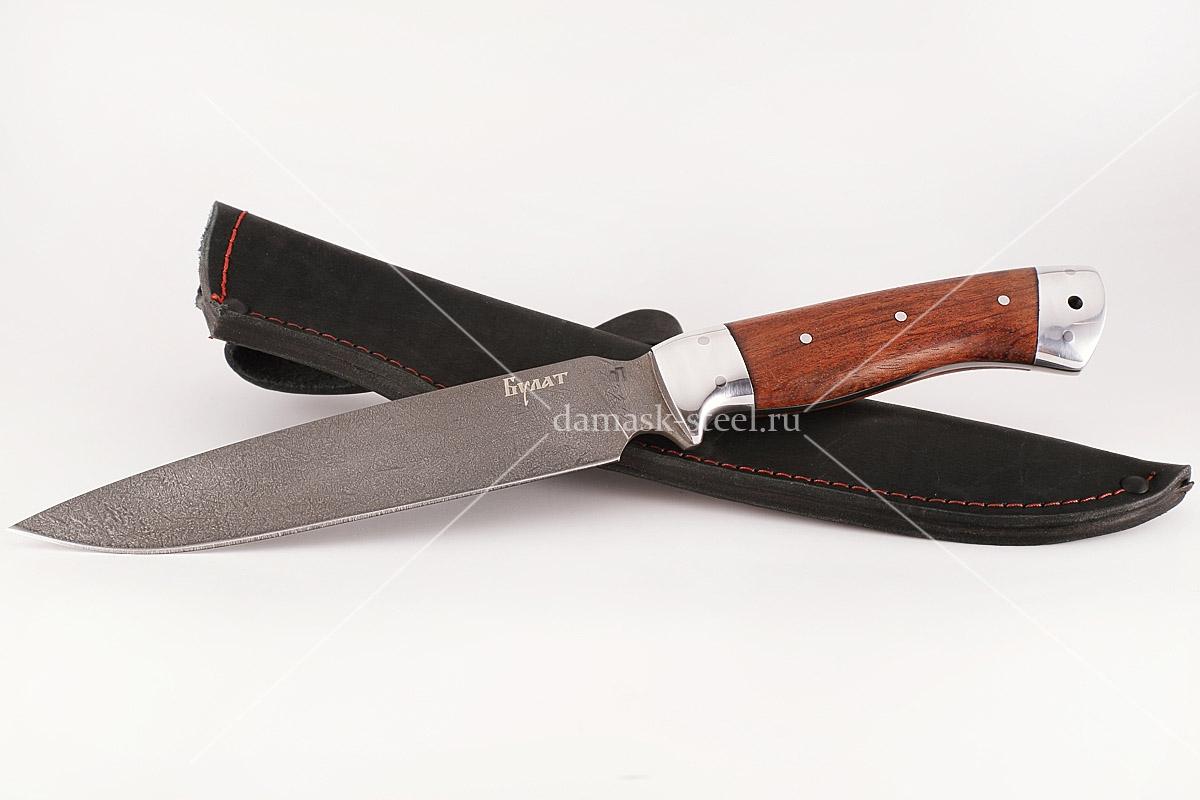 Нож Медведь-1 сталь литой булат бубинга цельнометаллический