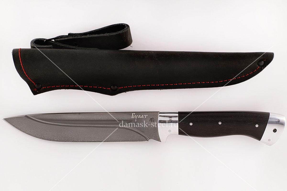 Нож Скорпион-32 сталь литой булат граб цельнометаллический (долы)