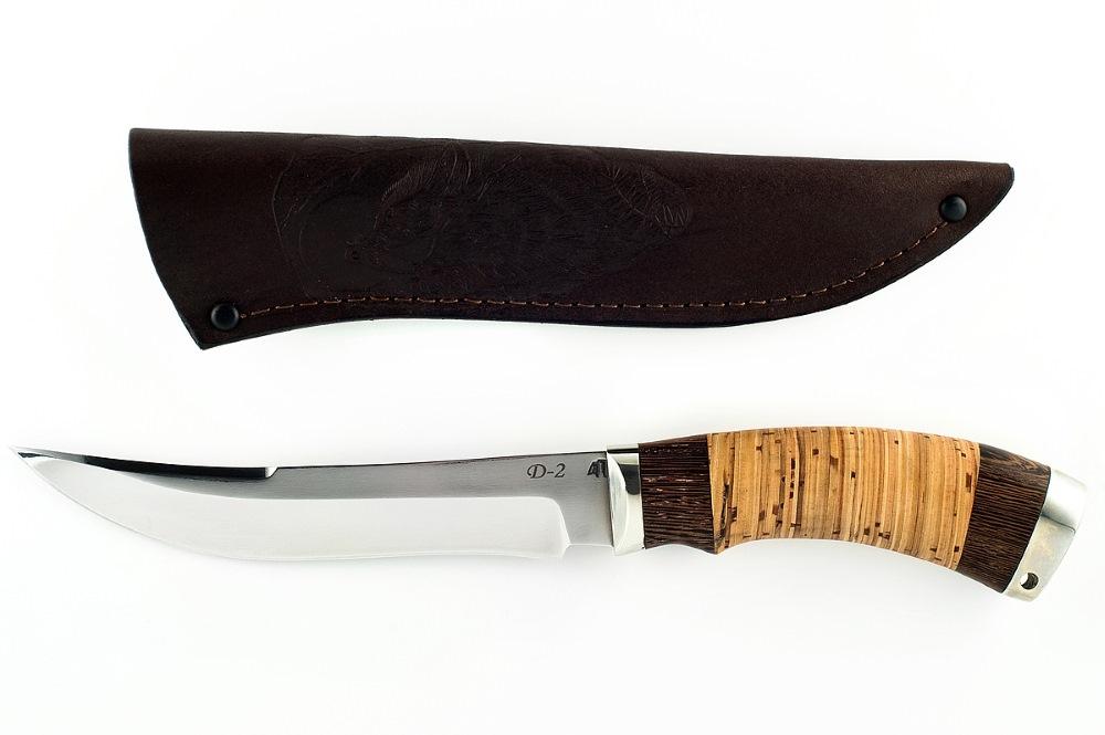 Нож Акула немецкая сталь D-2 венге и береста
