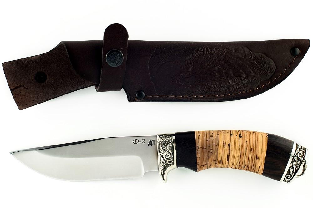 Нож Барсук-2 немецкая сталь D-2 граб и береста