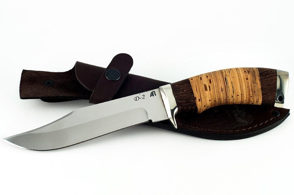 Нож Лис немецкая сталь D-2 венге и береста
