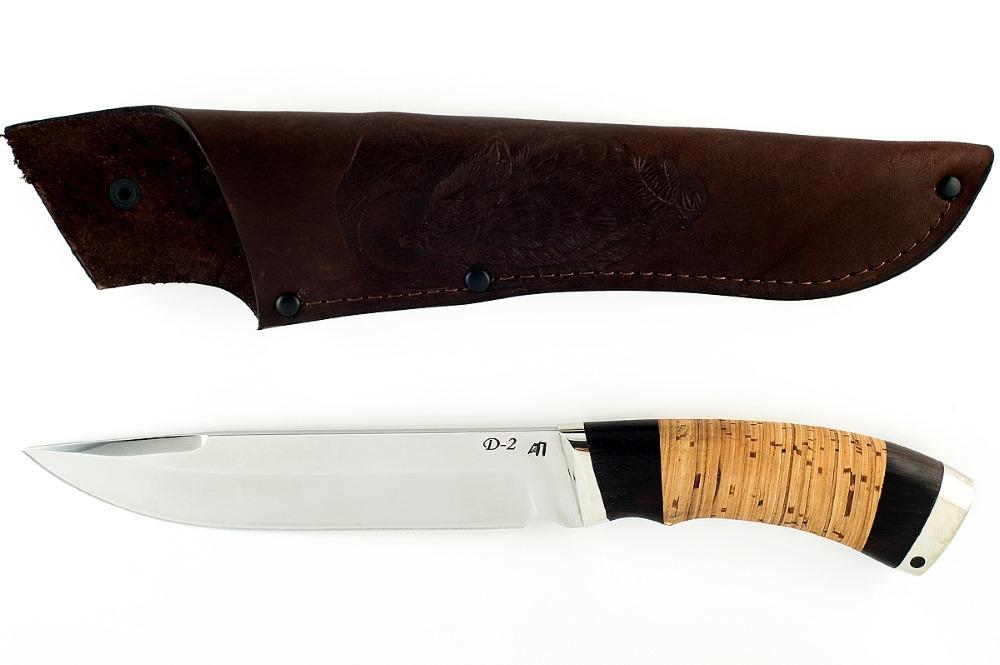 Нож Скорпион немецкая сталь D-2 граб и береста