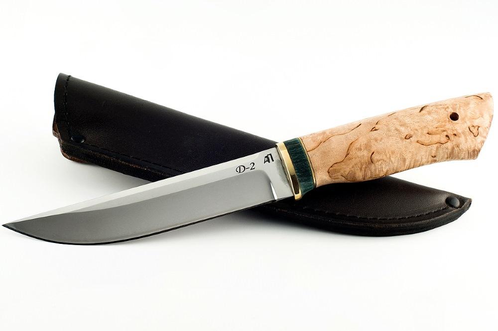 Нож Волк-5 немецкая сталь D-2 карельская береза