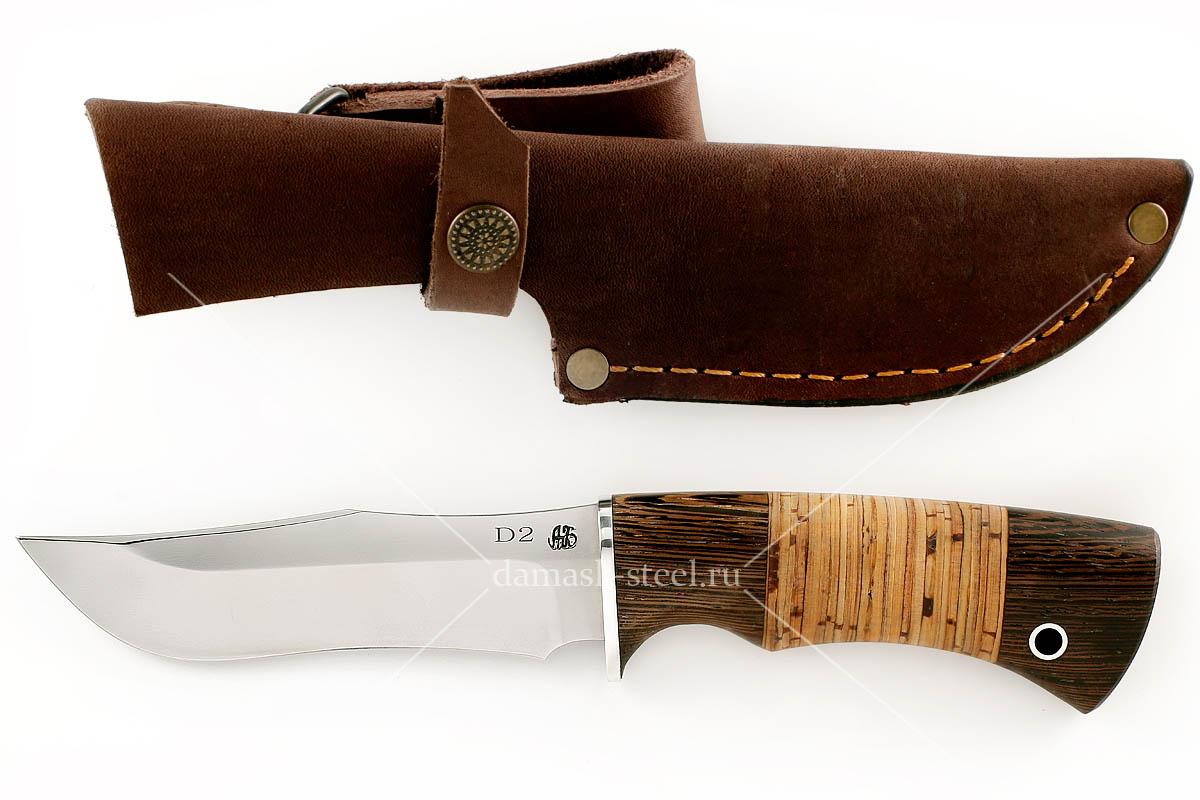 Нож Бизон(n)-1 немецкая сталь D-2 венге и береста