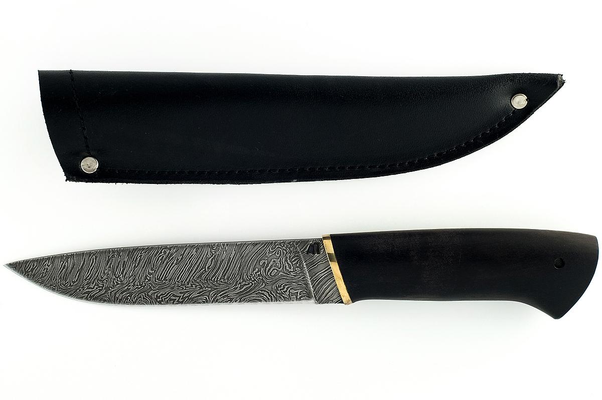 Нож Варан сталь дамаск граб