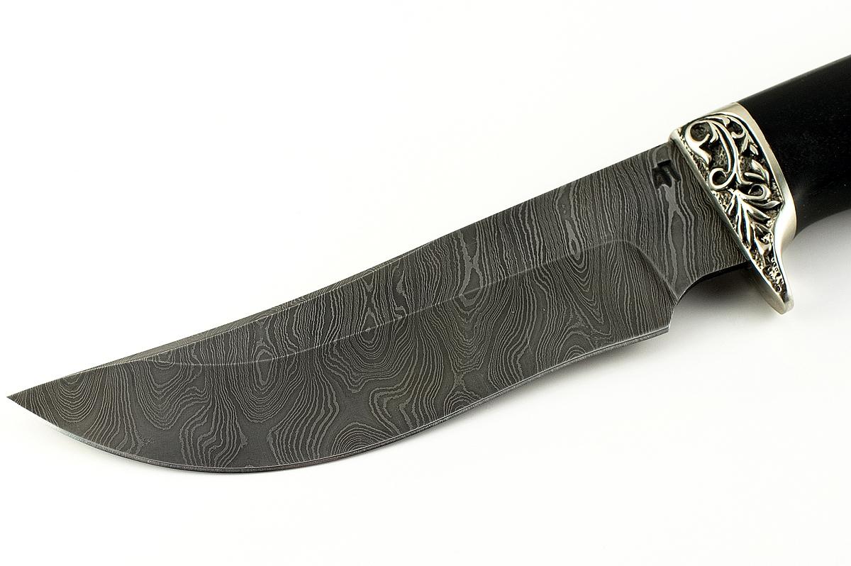 Нож Сокол сталь дамаск граб