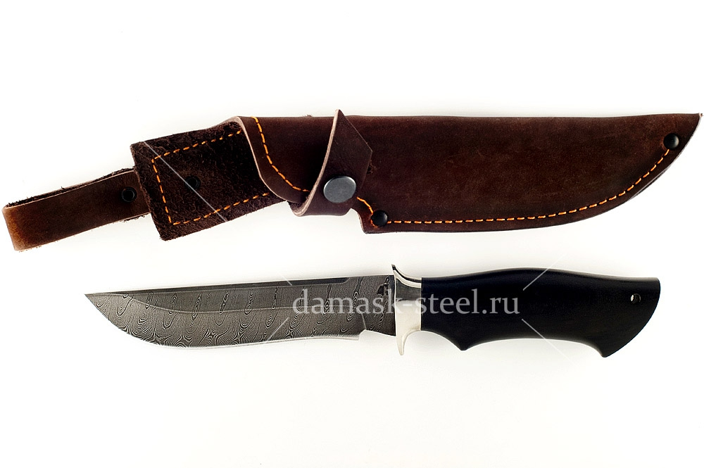 Нож Ястреб сталь дамаск граб