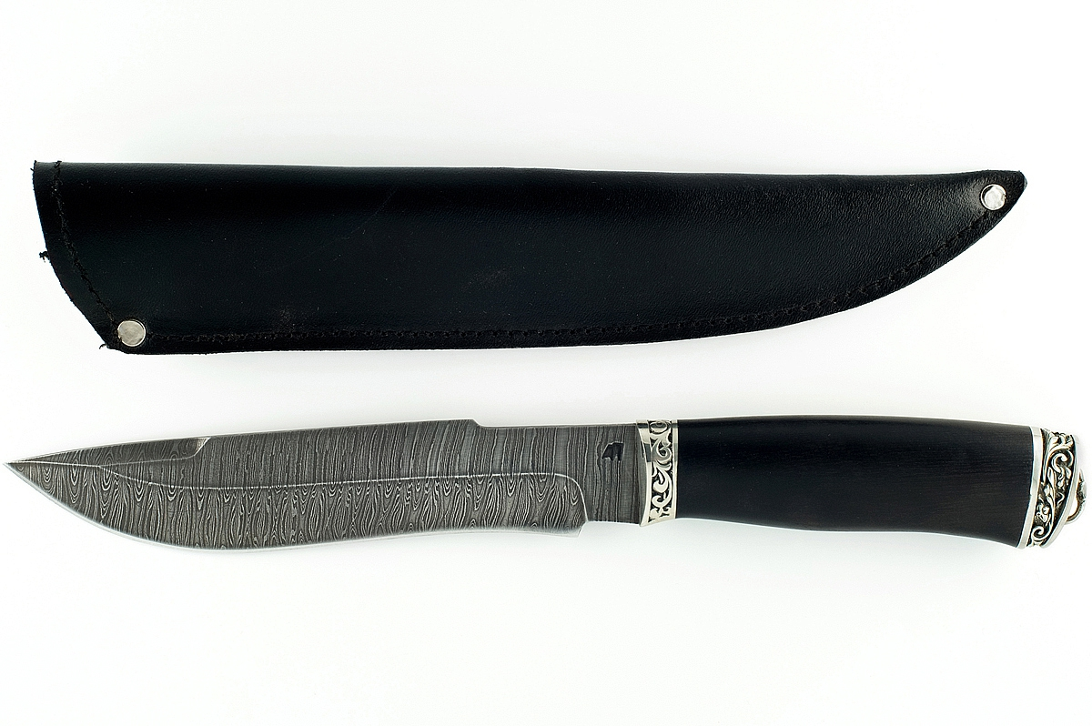 Нож Бизон-4 сталь дамаск граб