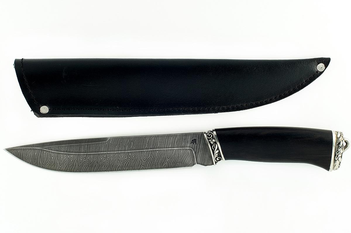 Нож Скорпион-3 сталь дамаск граб