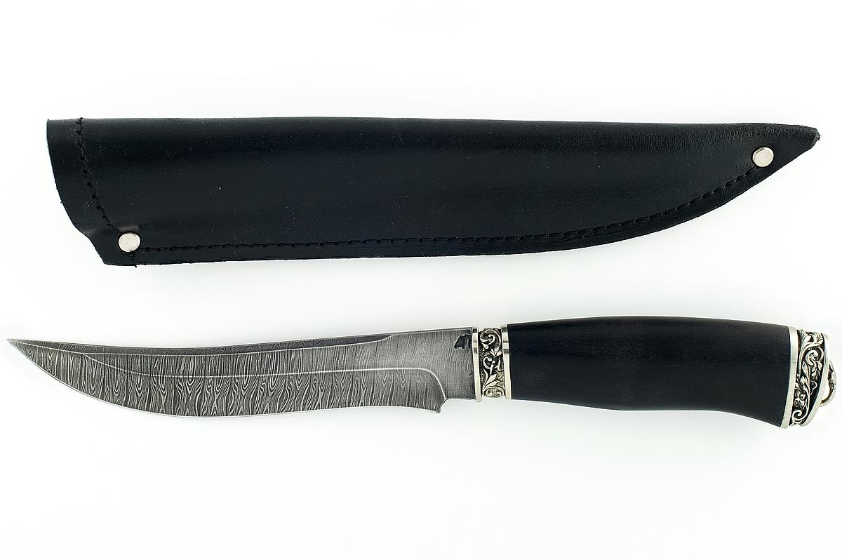 Нож Акула-4 сталь дамаск граб