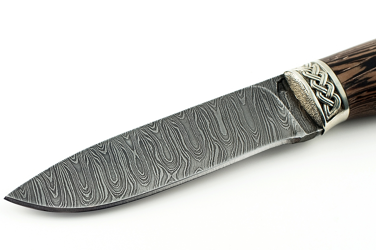 Нож Ласка сталь дамаск венге