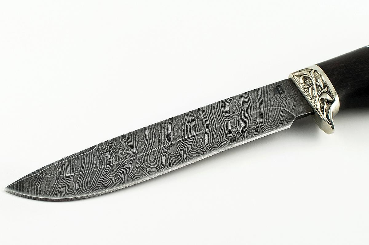 Нож НКВД сталь дамаск граб и пластик
