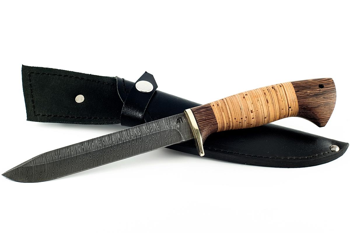 Нож НР-40 сталь дамаск венге и береста