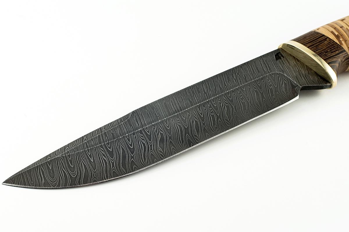 Нож Скорпион-8 сталь дамаск венге и береста