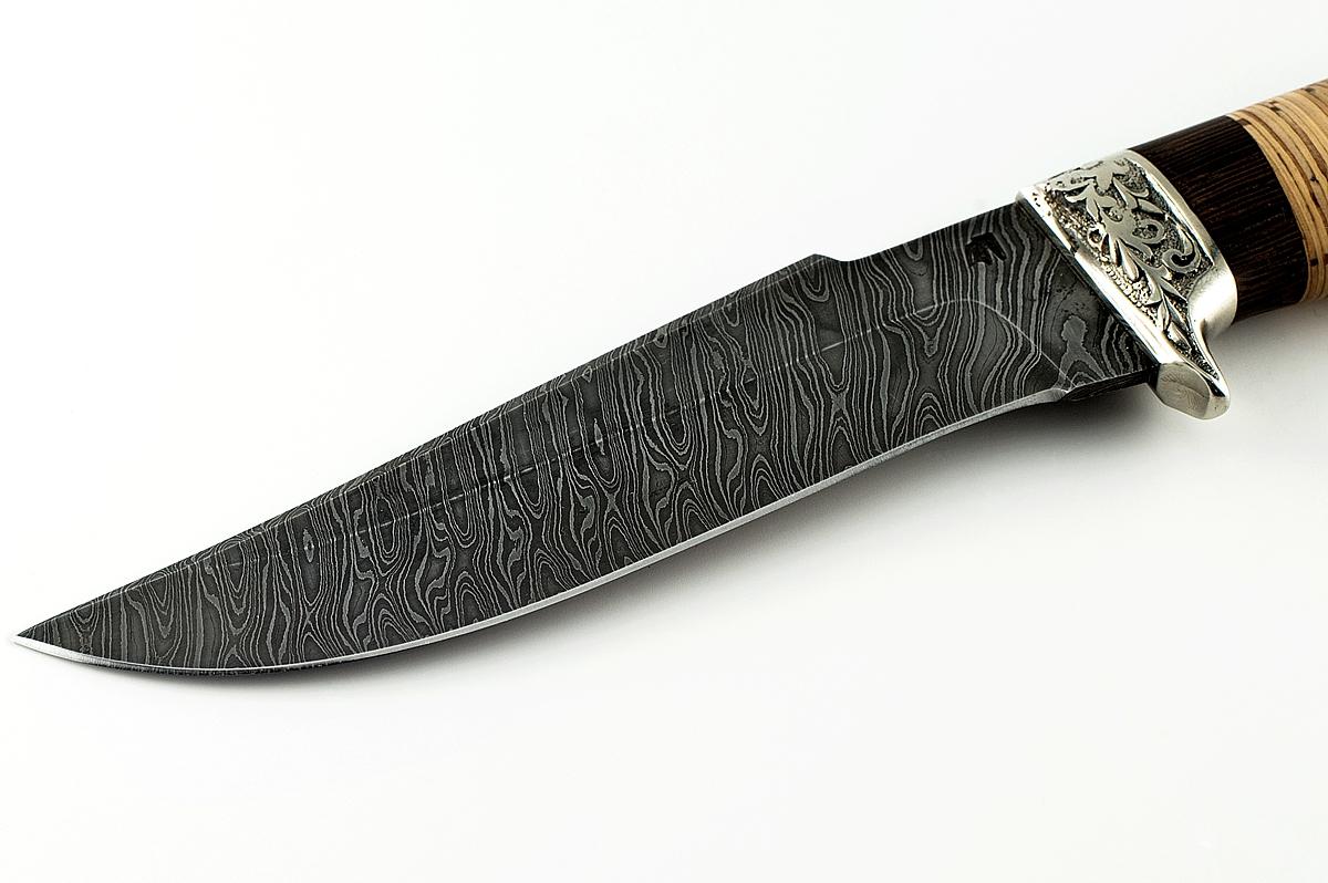 Нож Шершень-2 сталь дамаск венге и береста
