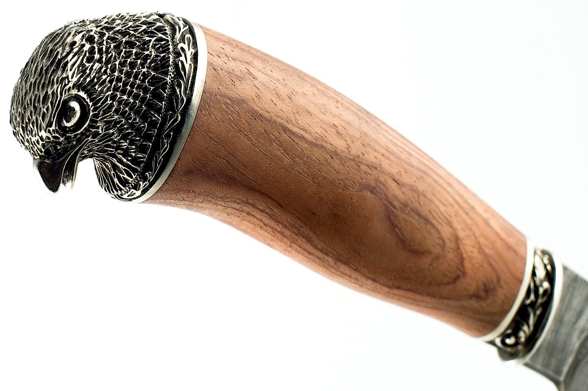 Нож Акула-7 сталь дамаск бубинга