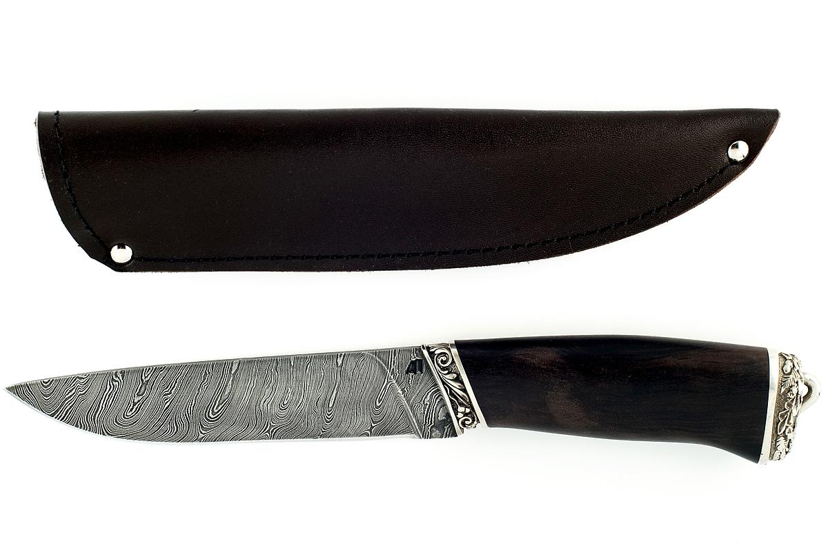 Нож Варан-5 сталь дамаск граб