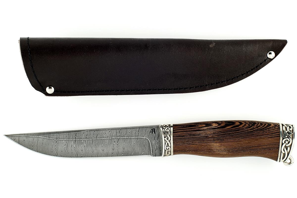 Нож Волк-6 сталь дамаск венге