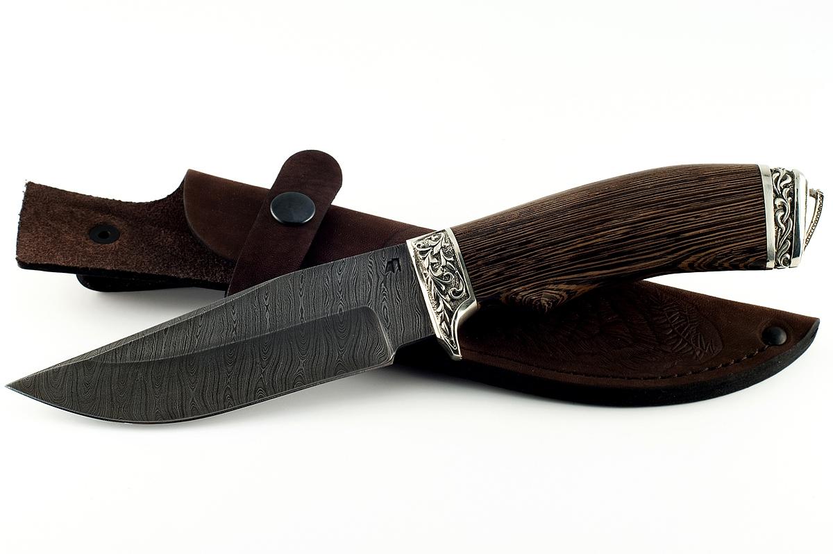 Нож Барсук-5 сталь дамаск венге