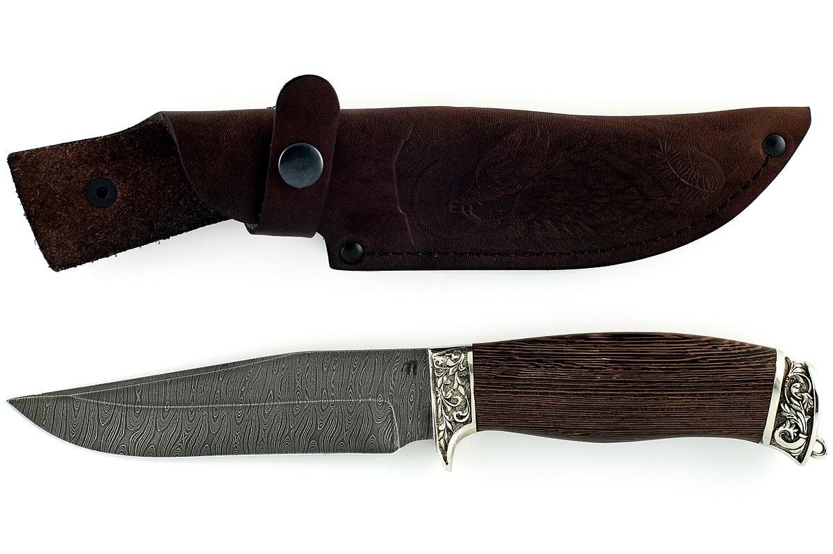 Нож Егерь-7 сталь дамаск венге