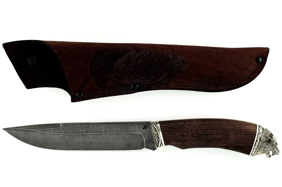 Нож Скорпион-11 сталь дамаск венге