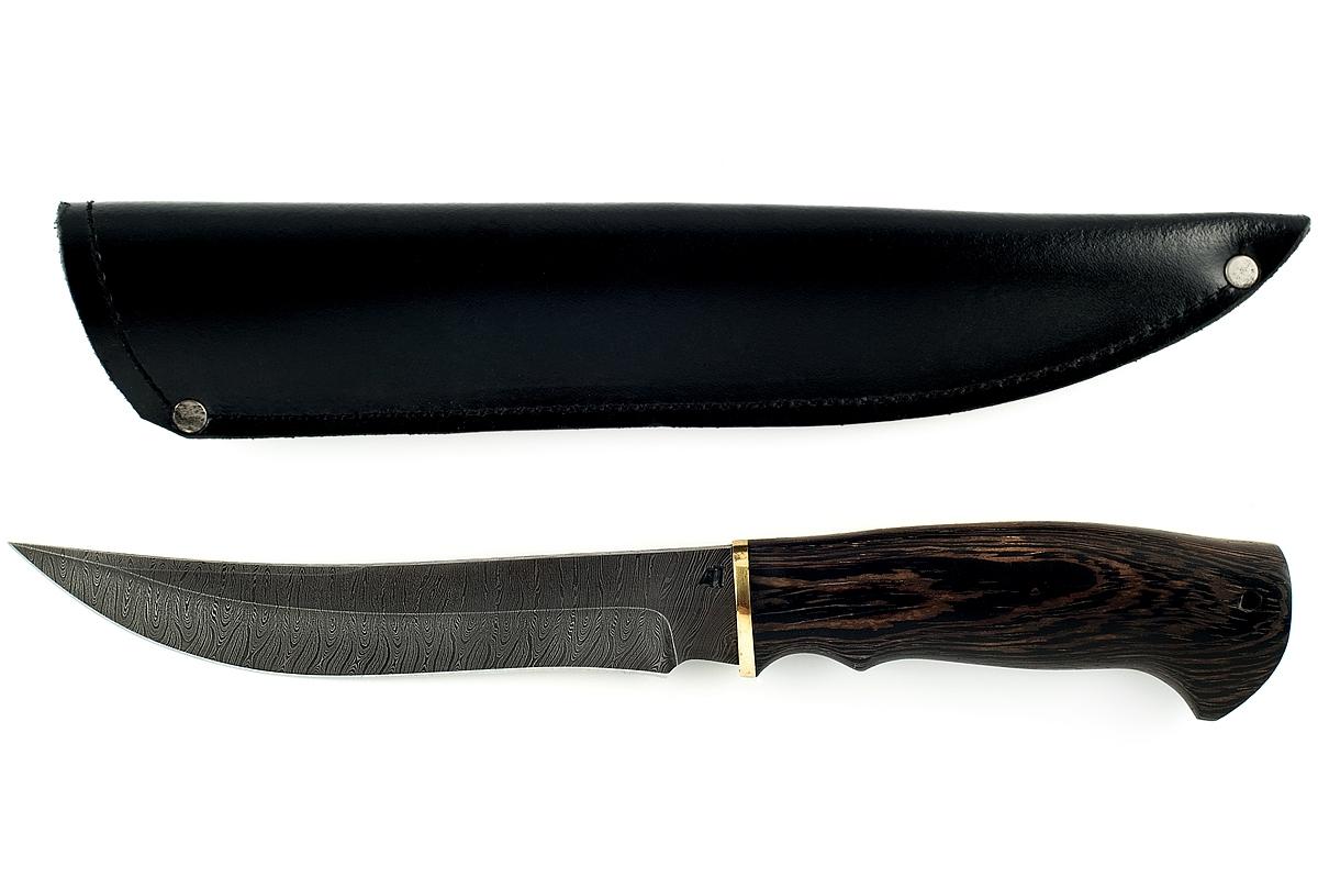 Нож Акула-9 сталь дамаск венге