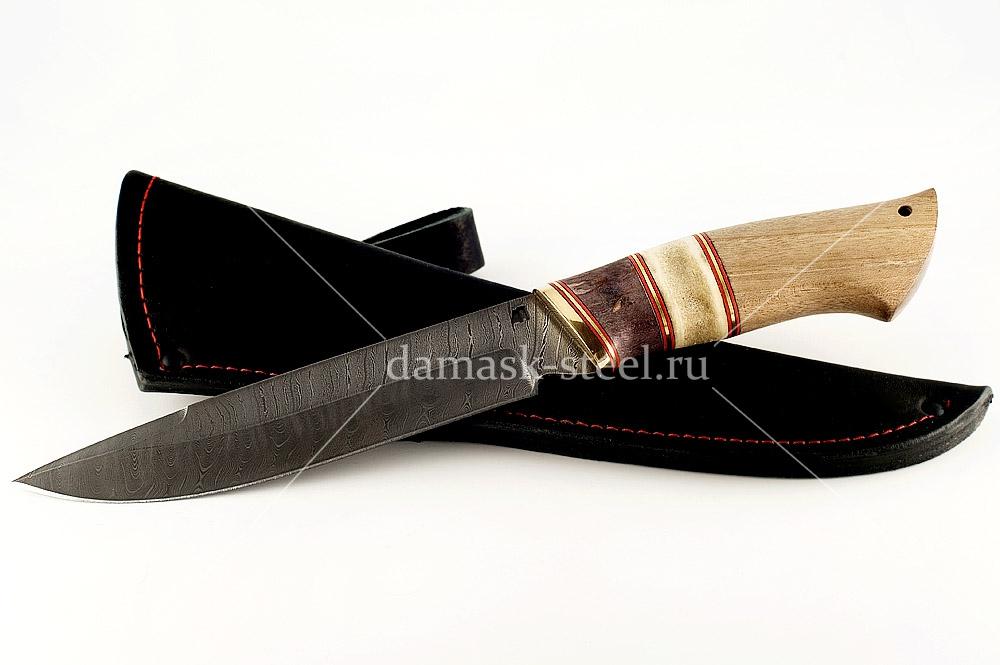 Нож Скорпион сталь дамаск наборная рукоять