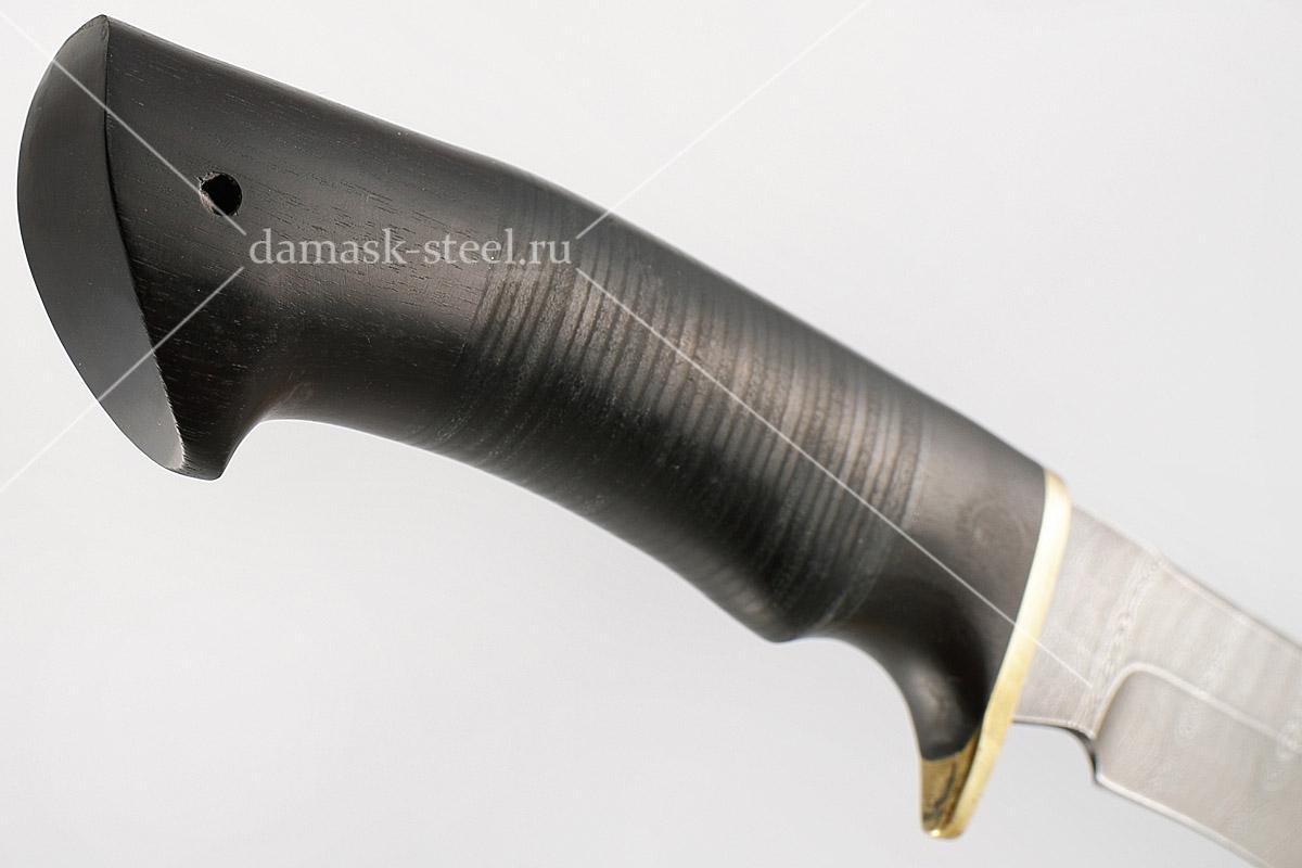 Нож Ястреб-2 сталь дамаск граб и кожа