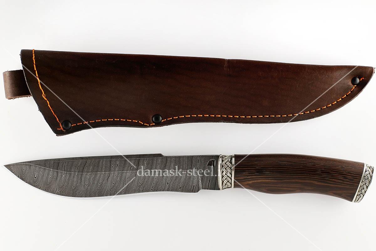 Нож Бизон-24 сталь дамаск венге