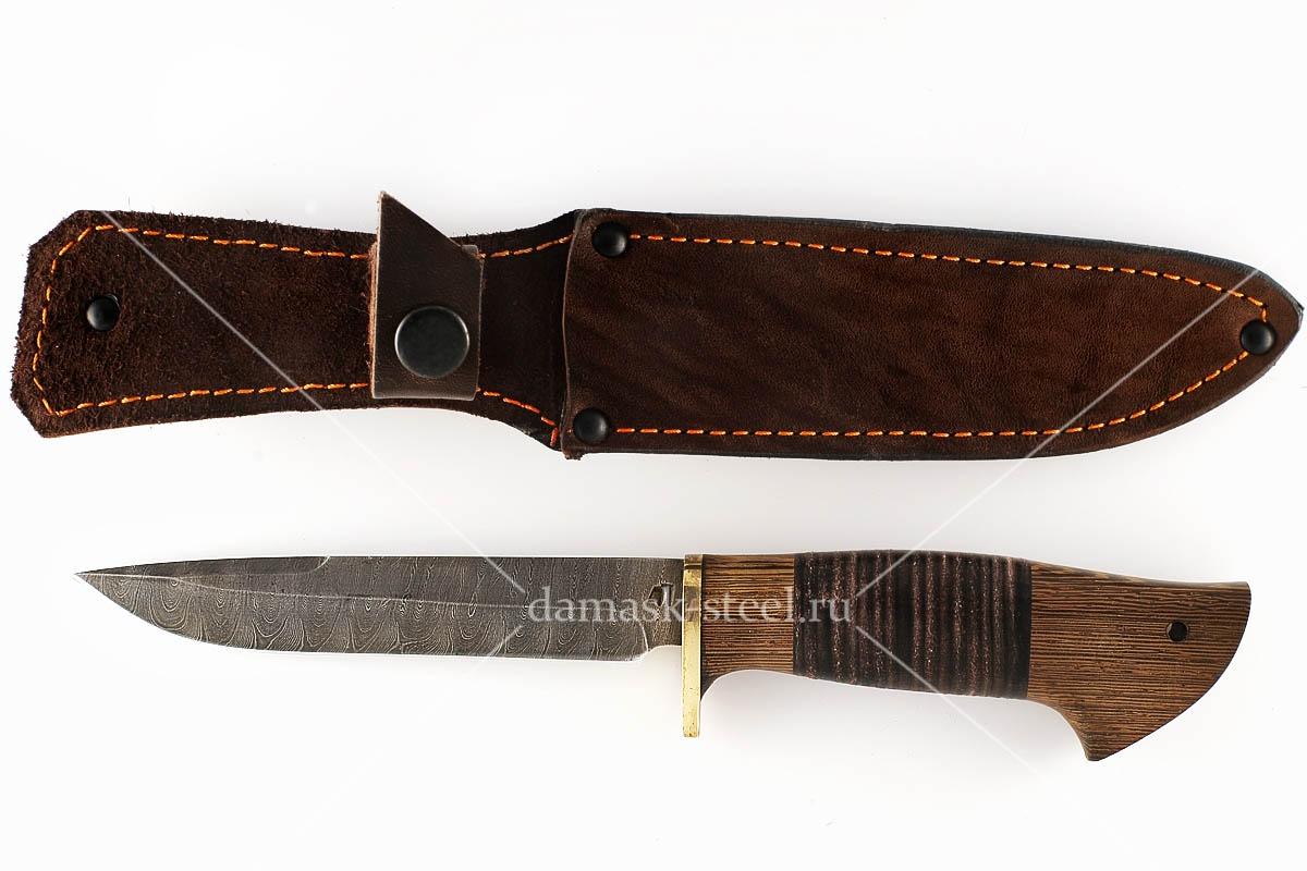 Нож НКВД-1 сталь дамаск венге и кожа