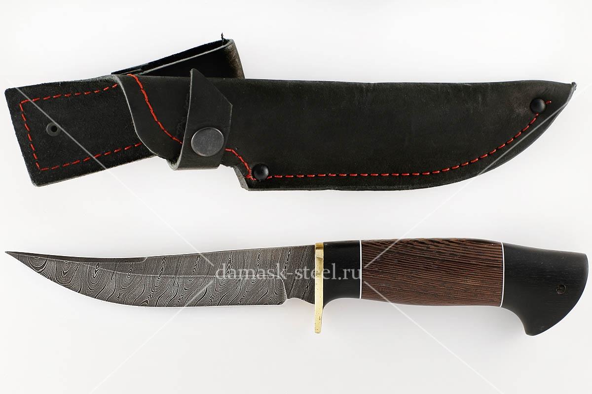 Нож Судак сталь дамаск граб и венге