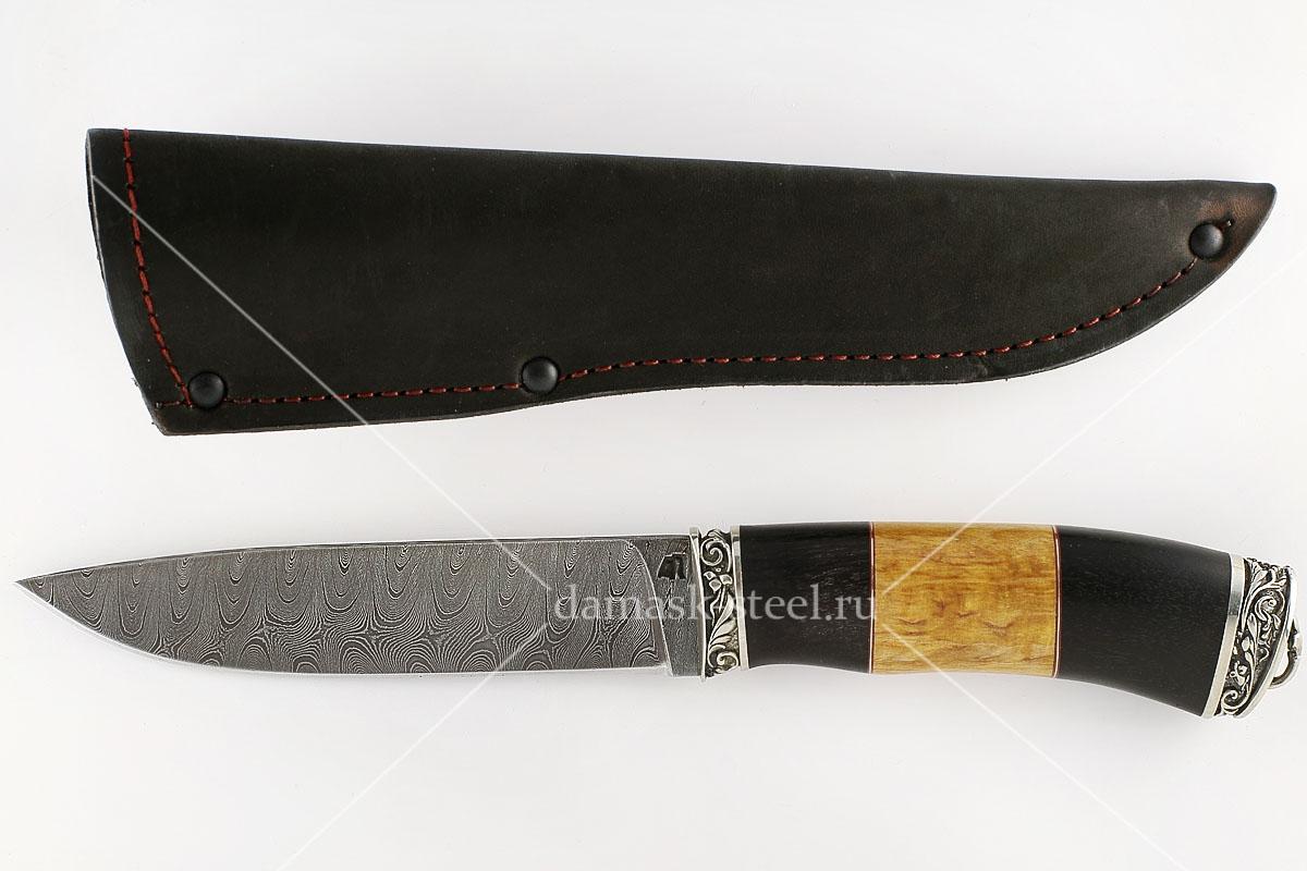 Нож Варан-1 сталь дамаск граб и карельская берёза