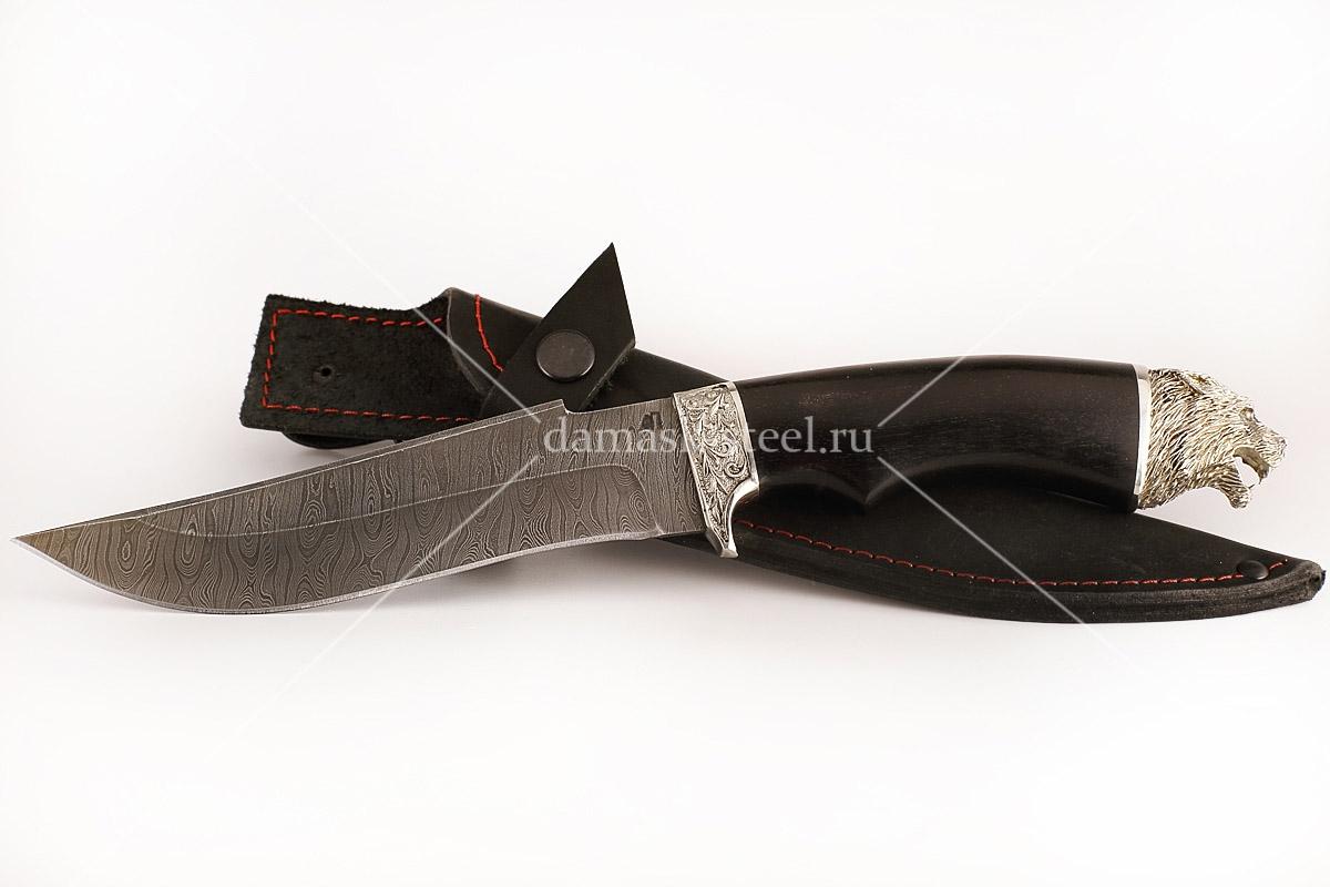 Нож Шершень-3 сталь дамаск граб