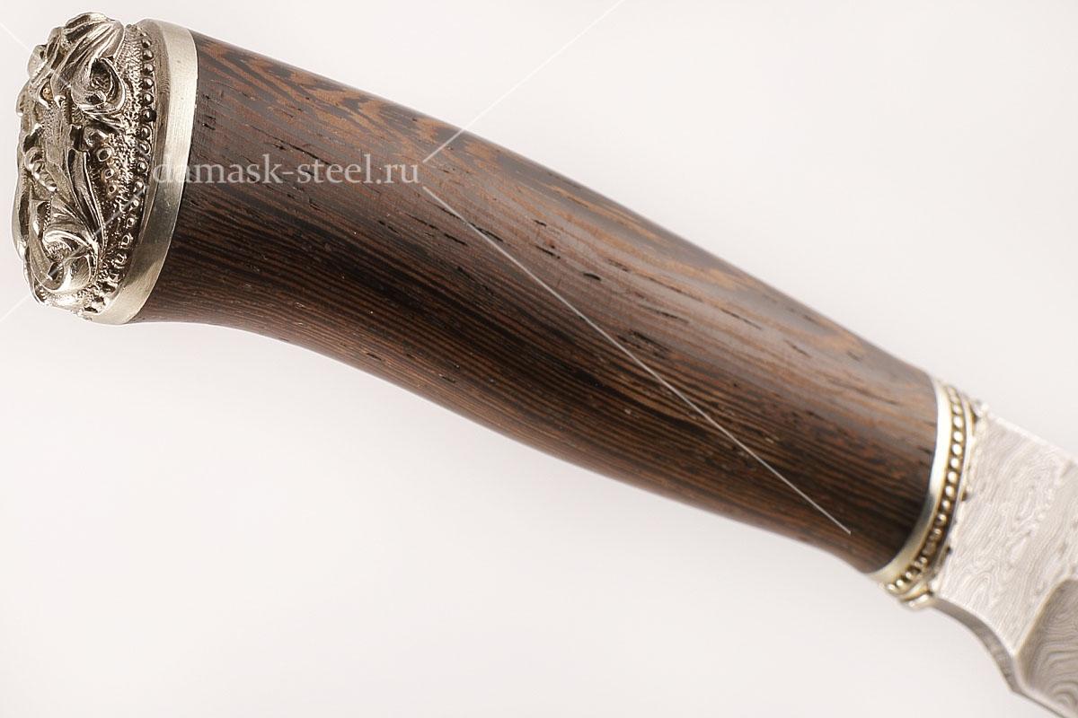 Нож Кабан-1 сталь дамаск венге