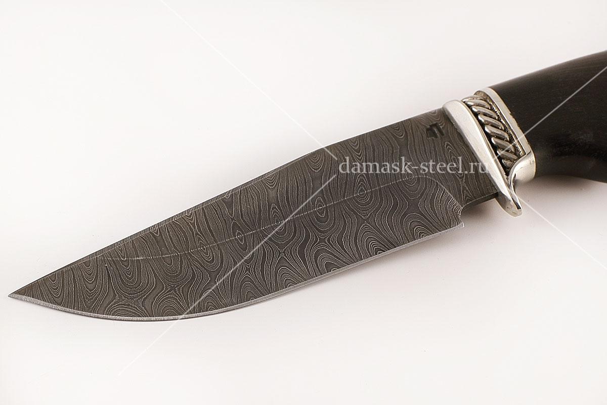 Нож Барсук-1 сталь дамаск граб голова