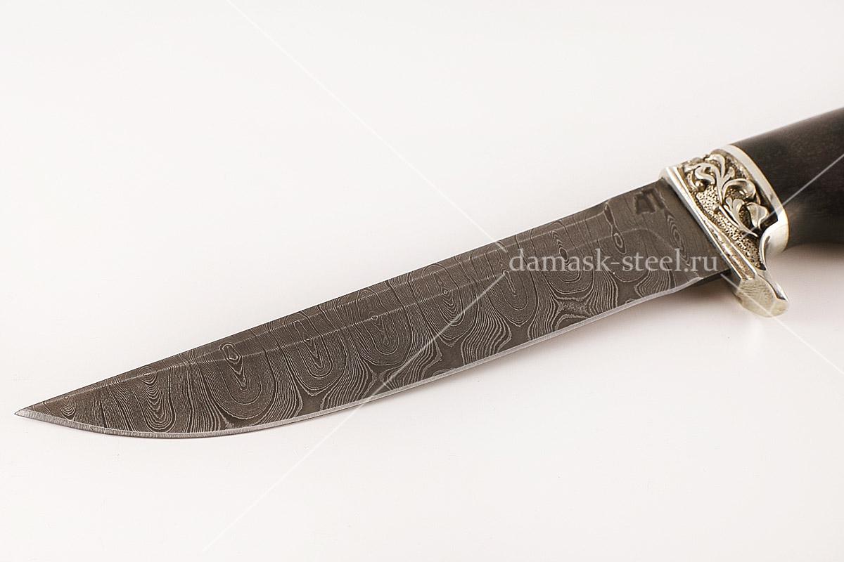 Нож Хорёк-1 сталь дамаск граб